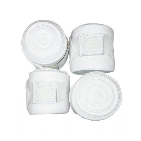 Fleece Bandagen 4er Set weiß