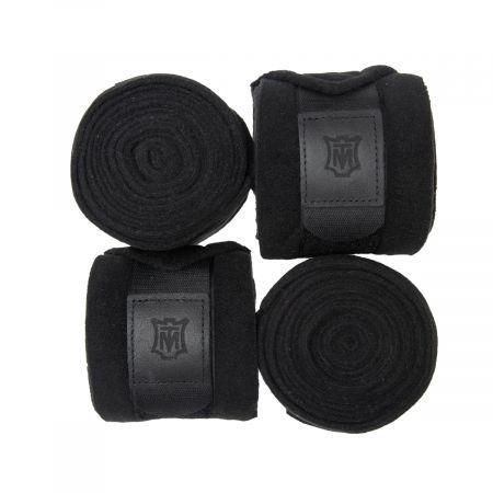 Fleece Bandagen schwarz