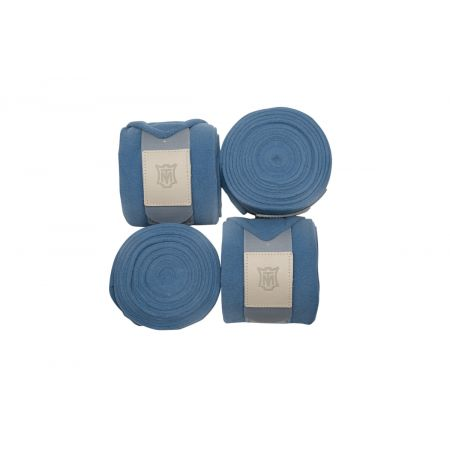 Fleece Bandagen 4er Set cornet blue