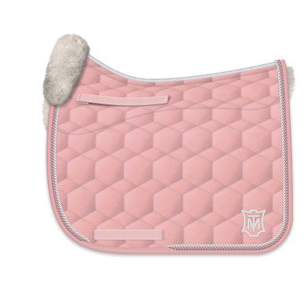 Schabracke DR Gr. L Glanz blush pink/leinen
